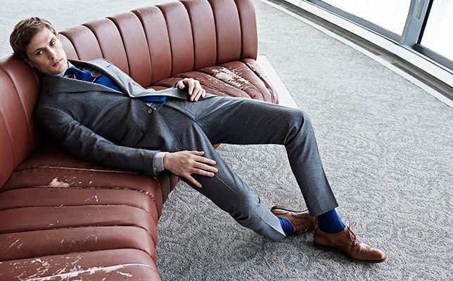 Классические коричневые мужские брогированные туфли дерби