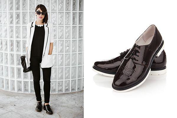 Стильные женские туфли броги