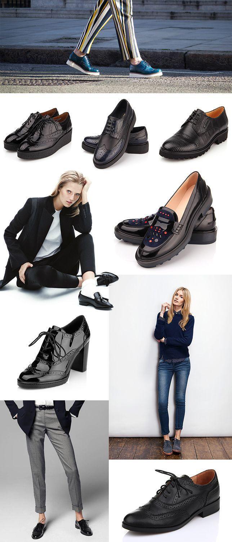 Женсткие туфли в мужском стиле