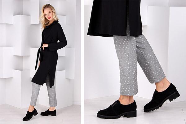 осенние женские замшевые кожаные туфли на низком каблуке