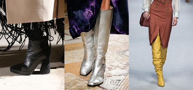 68c0beb55 Но есть и новые тенденции, которые отчетливо прослеживались на показах  коллекций обуви «осень – зима 2018-2019». В их числе: