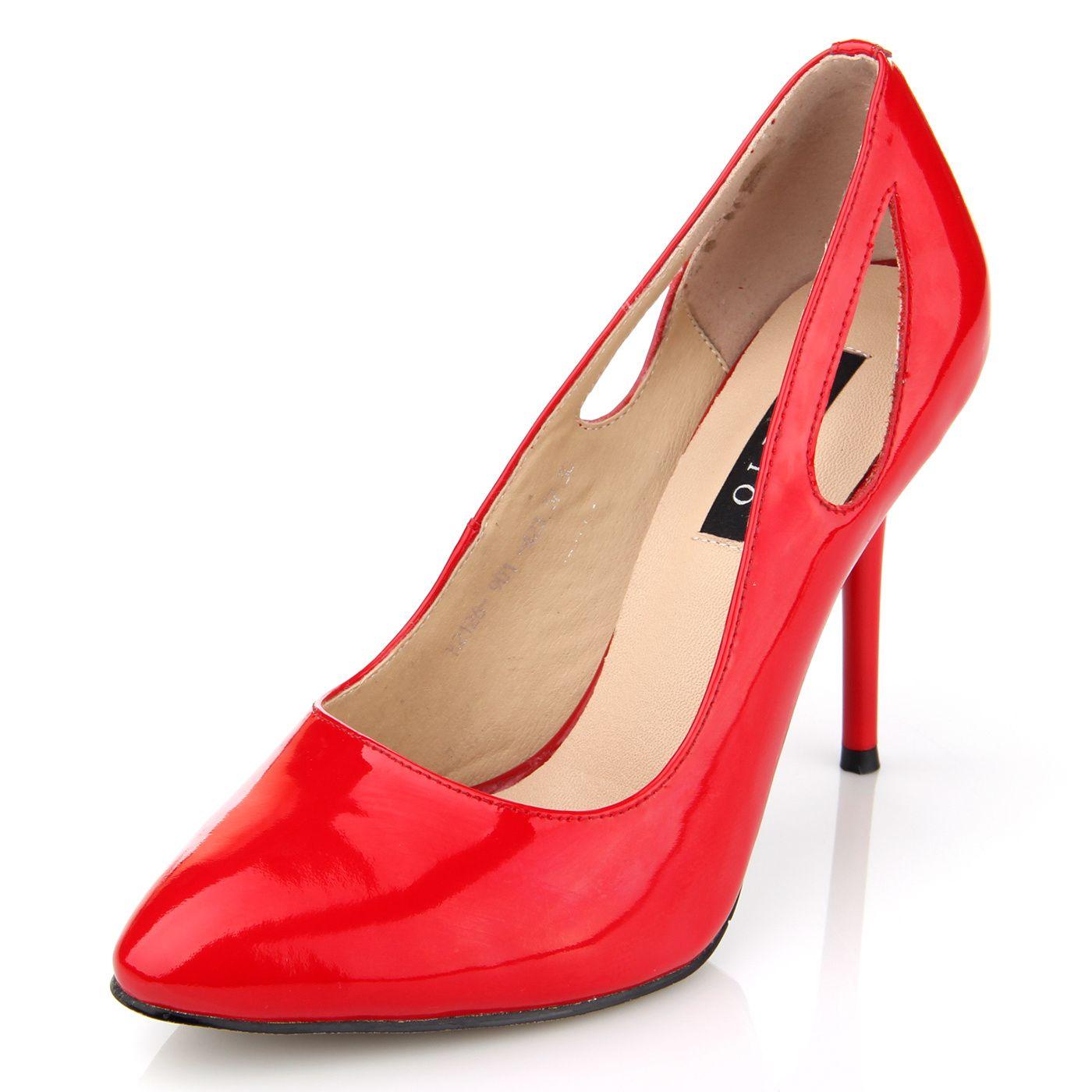 Оригинальные женские красные туфли
