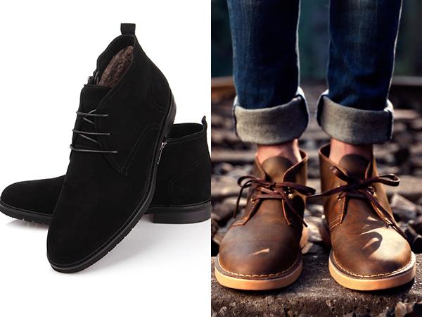 черные замшевые мужские ботинки дизерты