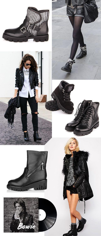 Женские ботинки в стиле гранж