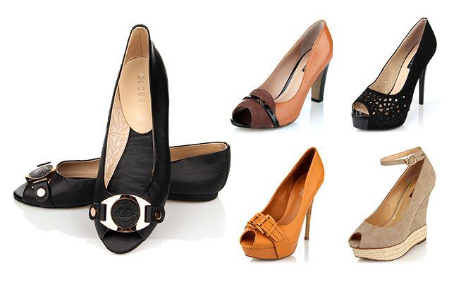 Обувь с открытым носком на Дитто