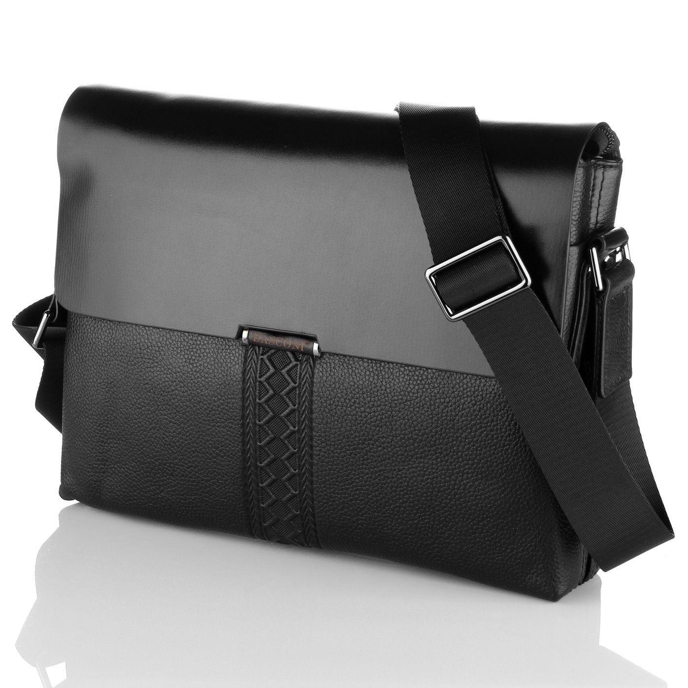 Практичная кожаная мужская сумка