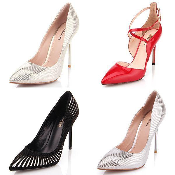 Яркие женские туфли на шпильке