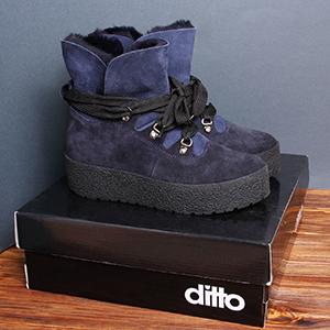 женские замшевые ботинки зимние