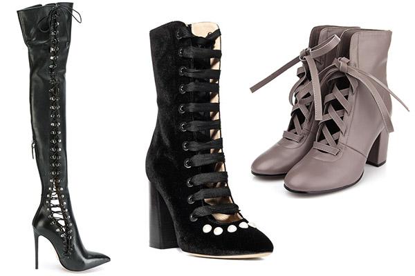 серые женские весенние ботинки н каблуке со шнуровкой
