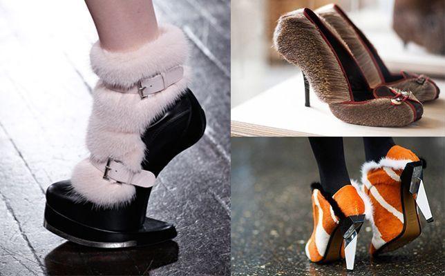 Ультрамодная обувь с отделкой мехом