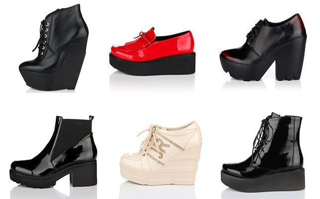 Обувь c платформой на Дитто