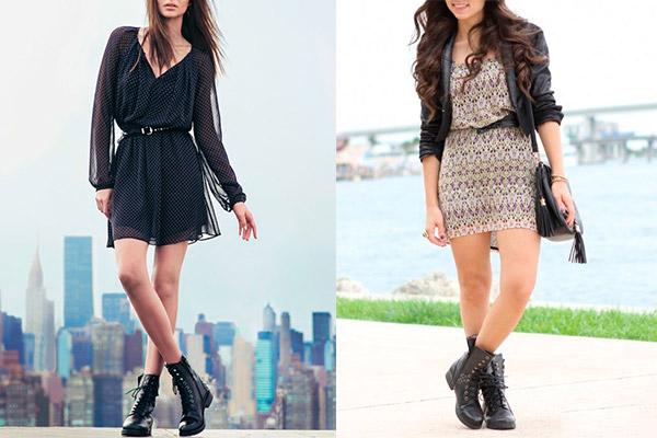 весенние женские ботинки на низком каблуке