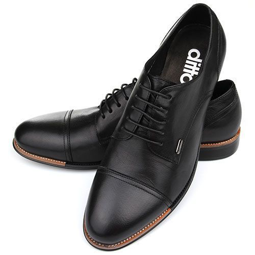 Стильные мужские туфли DITTO 886 - классическая модель черного цвета