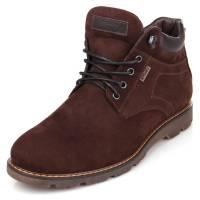 мужские зимние ботинки коричневые из нубука
