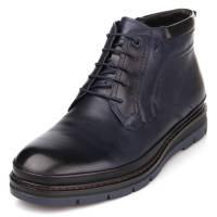 мужские кожаные зимние ботинки синие