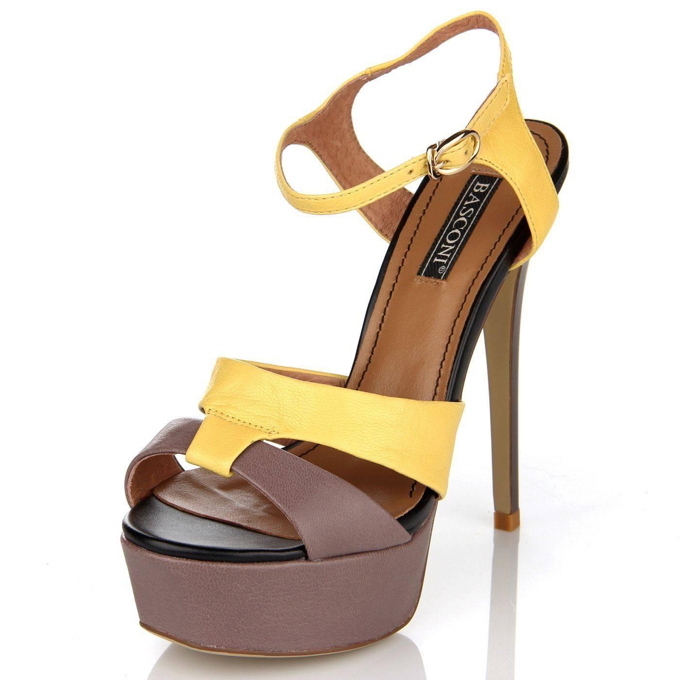 Босоніжки жіночі basconi 2290 Жовтий купить по выгодной цене в ... 3d72522e8cb35